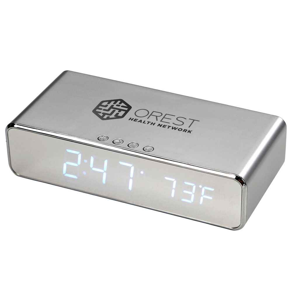 Keen Wireless Charging Desk Clock - Personalization Available