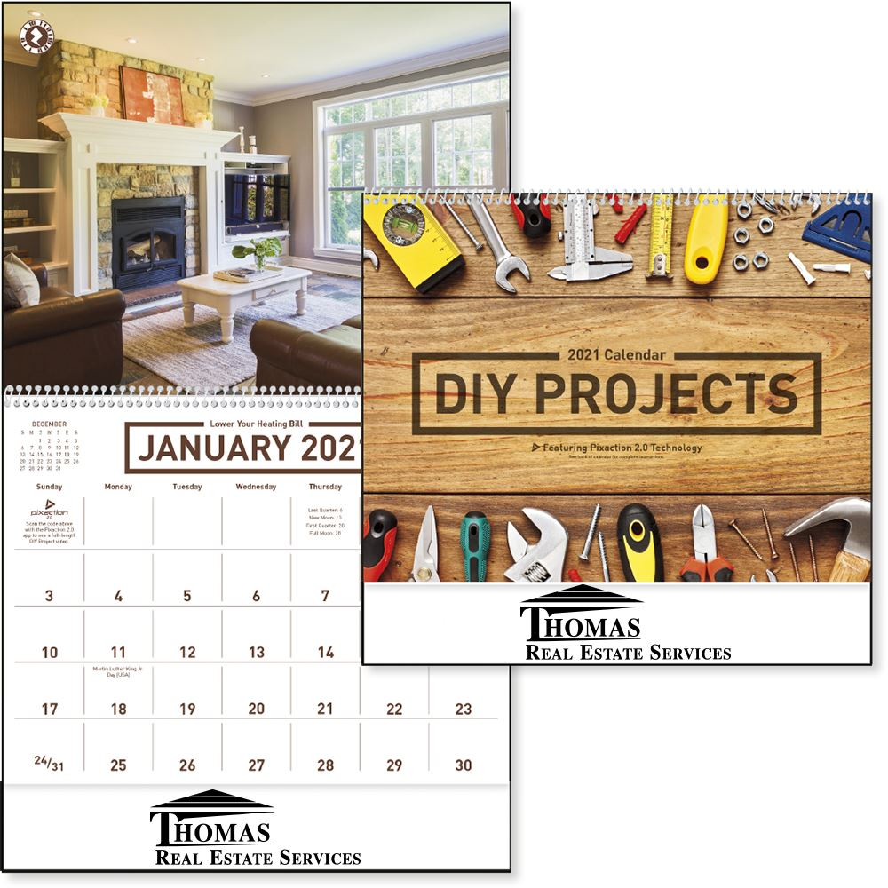2022 DIY Projects Wall Calendar - Spiral - Personalization Available