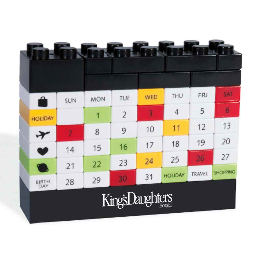 Puzzle Block Calendar - Personalization Available