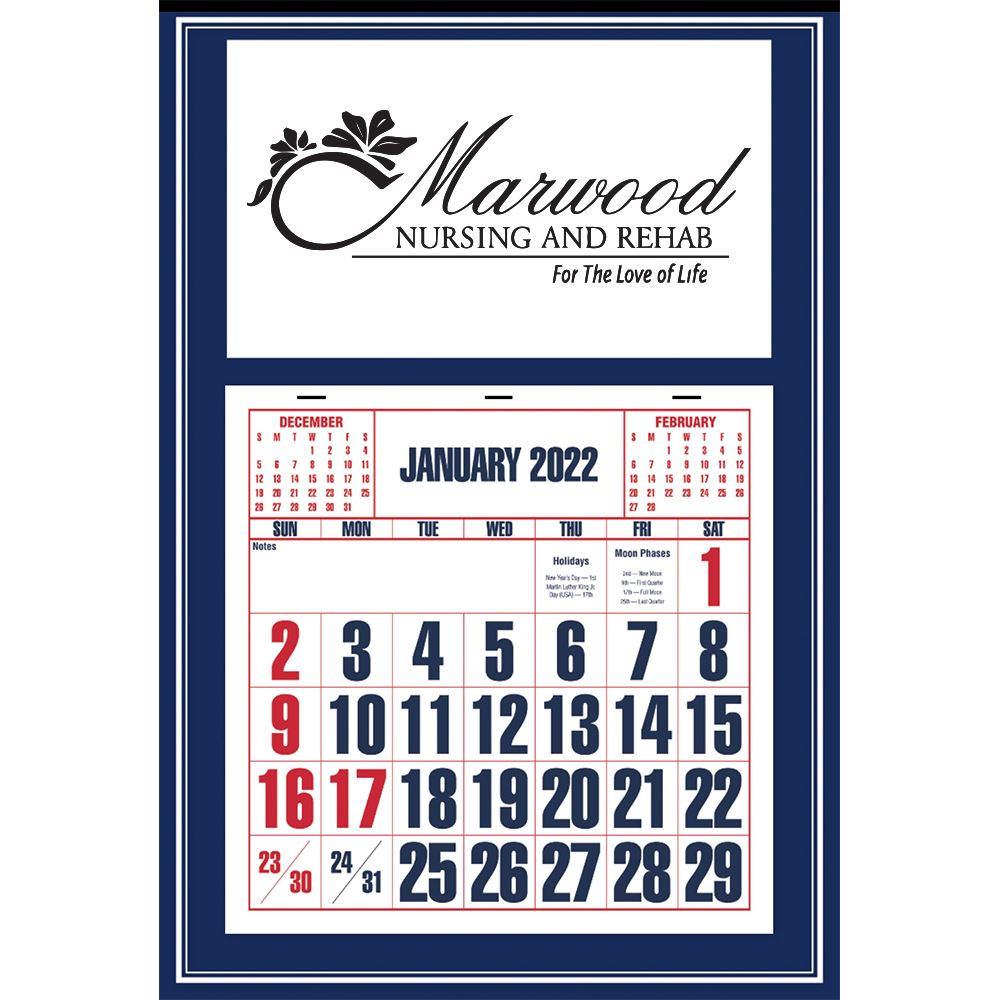Blue 2020 Apron Calendar - Personalization Available