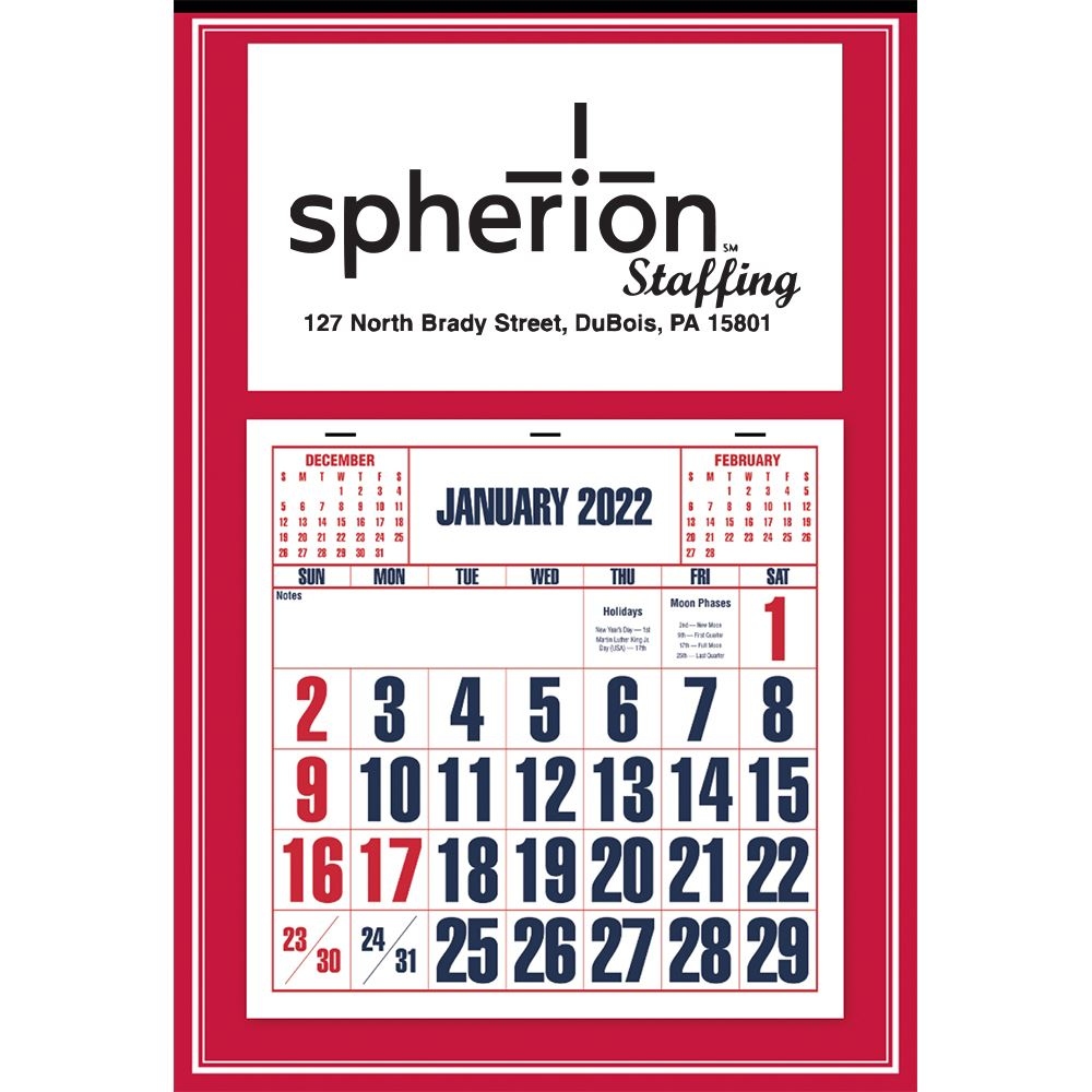 2022 Red Apron Calendar - Personalization Available