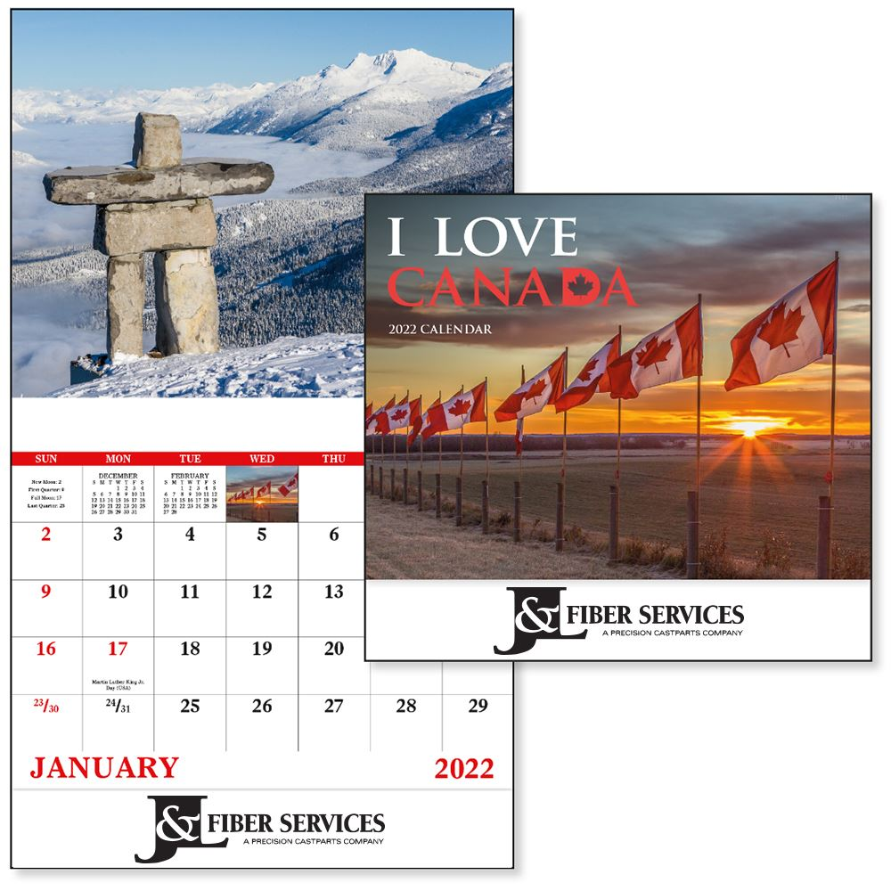 I Love Canada 2021 Calendar - Stapled - Add Your Personalization