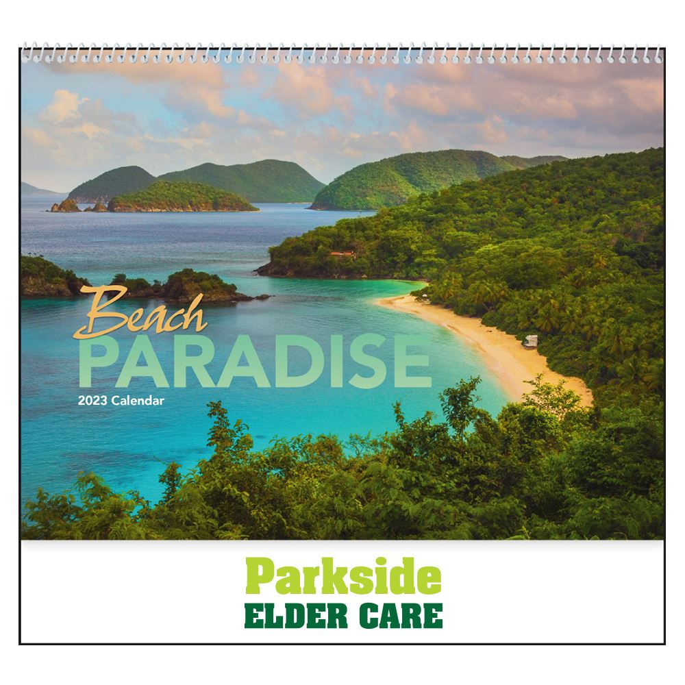 Beach Paradise 2021 Calendar- Spiral - Add Your Personalization