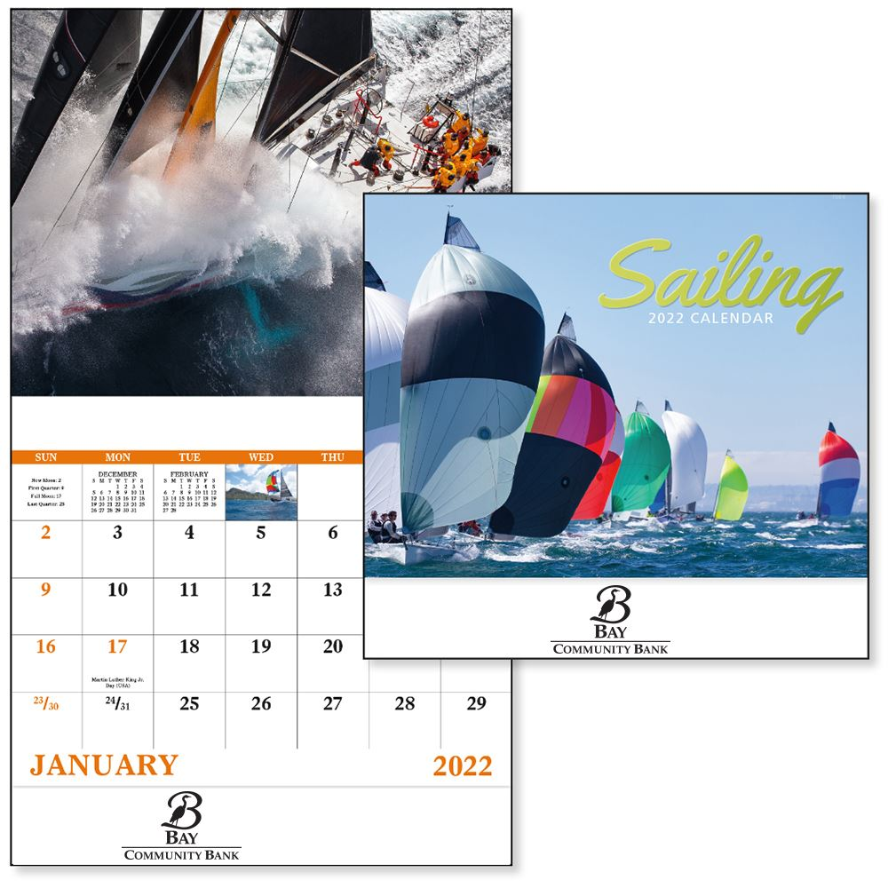 Sailing 2021 Calendar - Stapled - Add Your Personalization