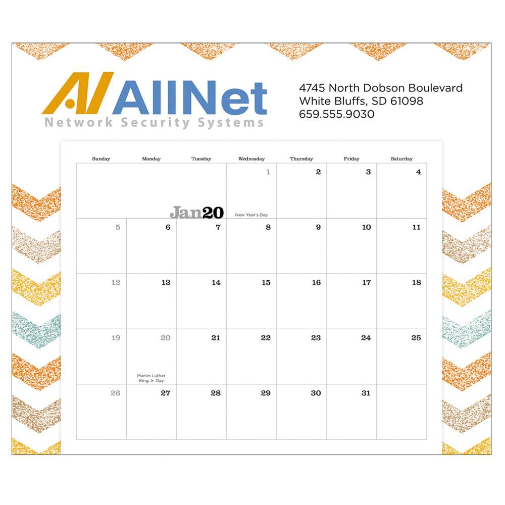 Magnetic Memo 2021 Calendar - Personalization Available