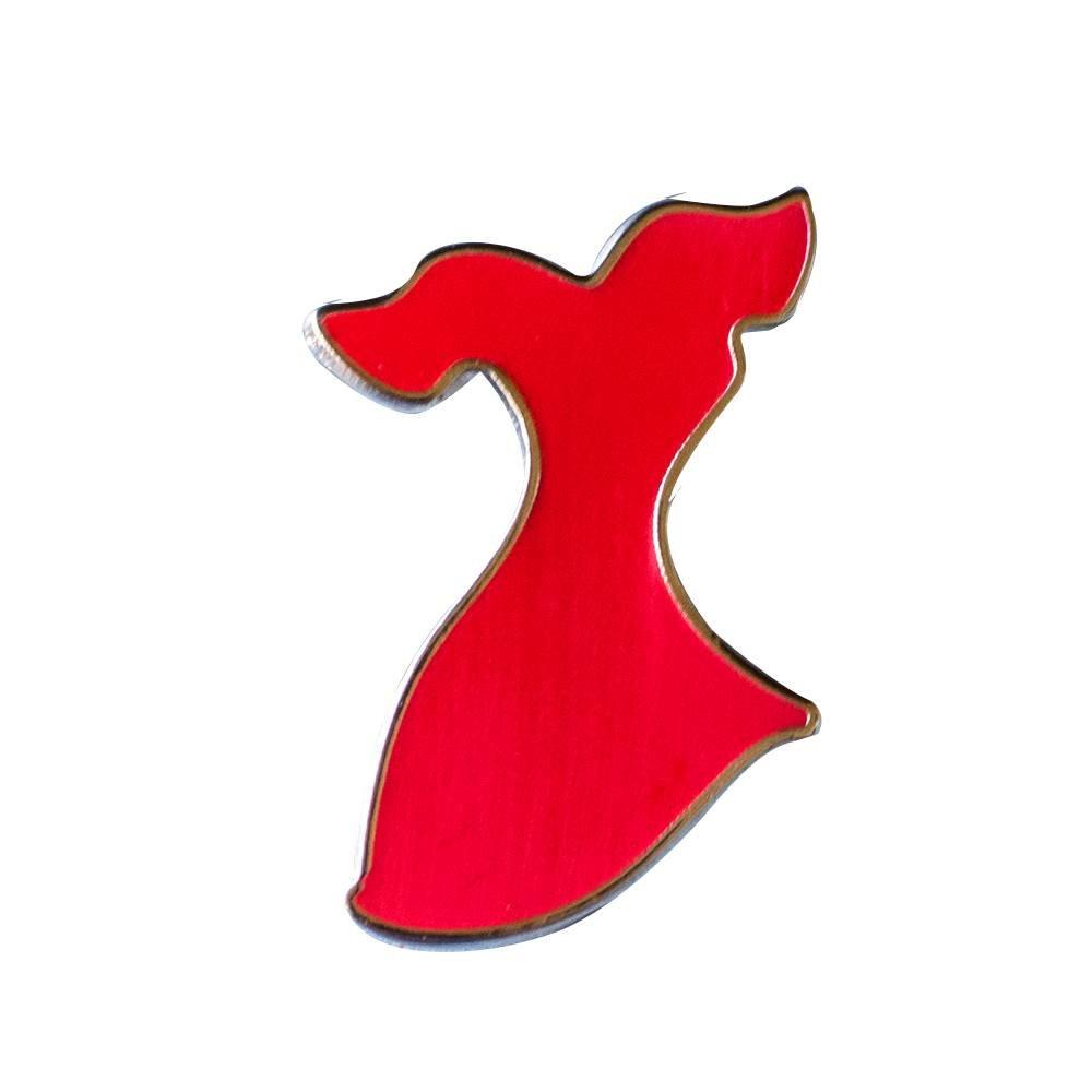 Red Dress Stock Pin