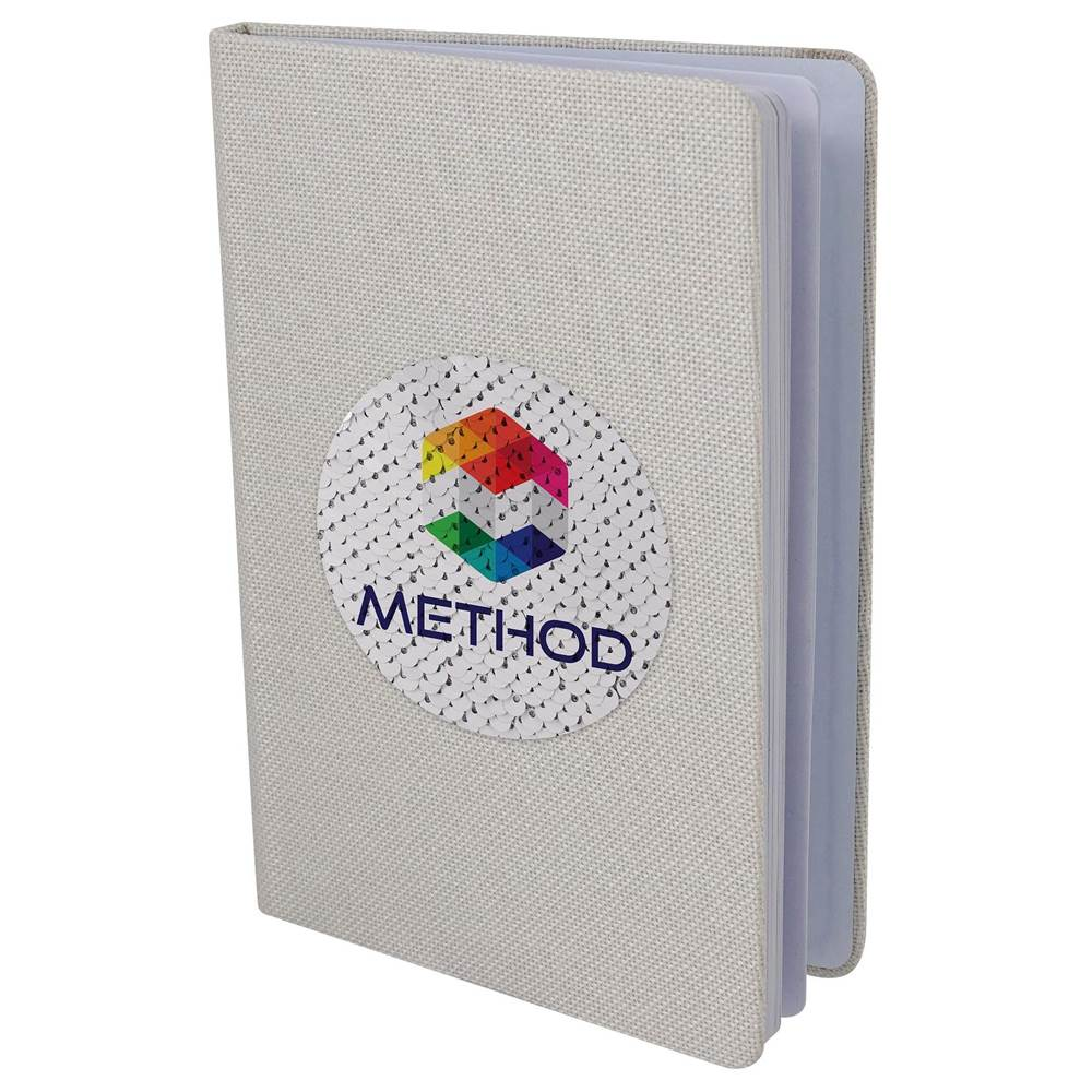 Vibrant Sequin Notebook - Personalization Available