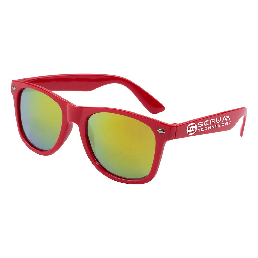 Clairemont Colored Mirror Tinted Sunglasses - Personalization Available