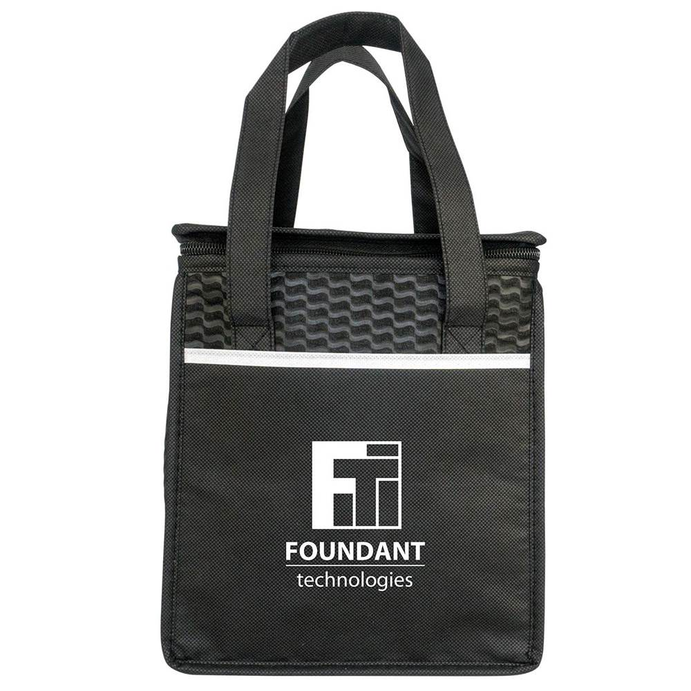 Rectangle Wave Lunch Tote - Personalization Available