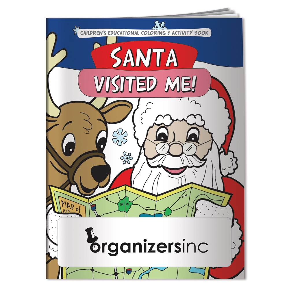 Santa Visited Me! Educational Coloring/Activity Book - Personalization Available