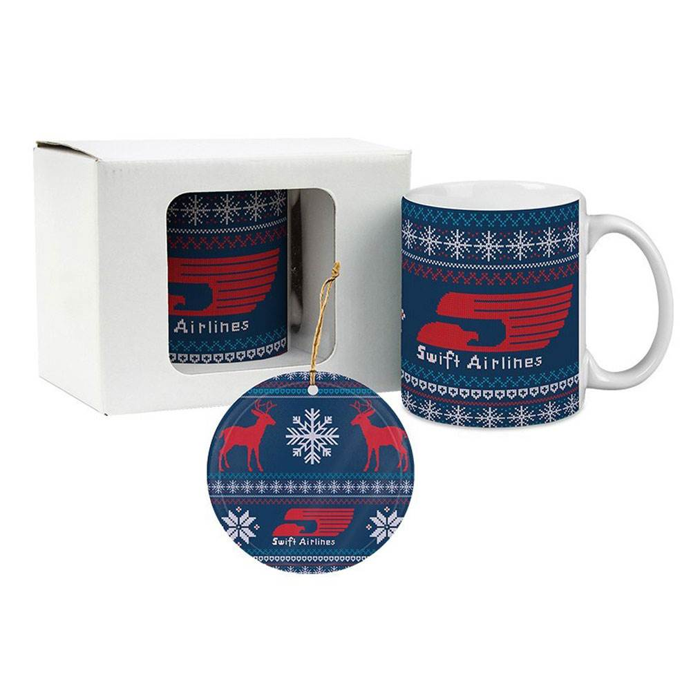 Classic White Mug & Ornament Gift Set - Personalization Available