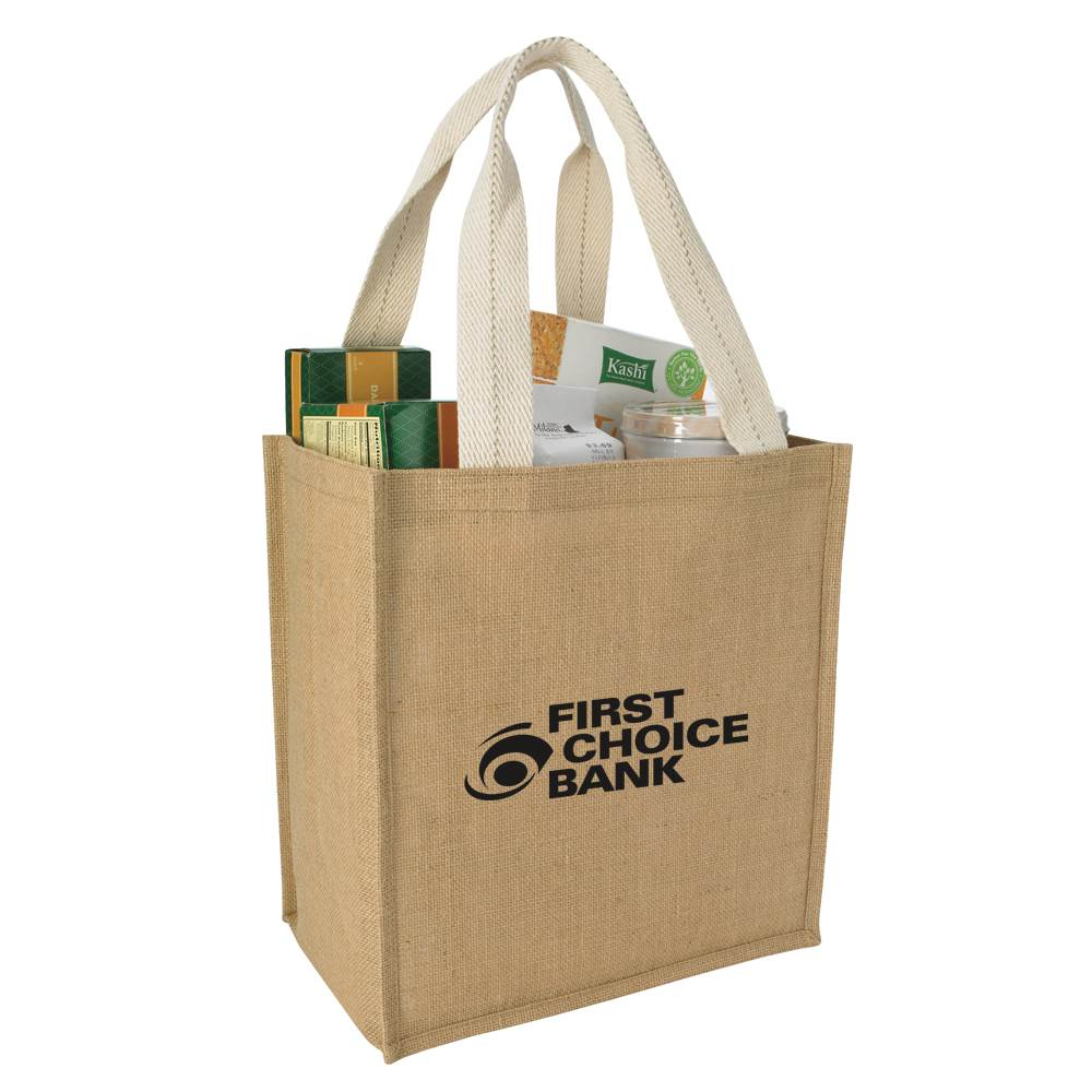 Jute Grocery Tote - Personalization Available