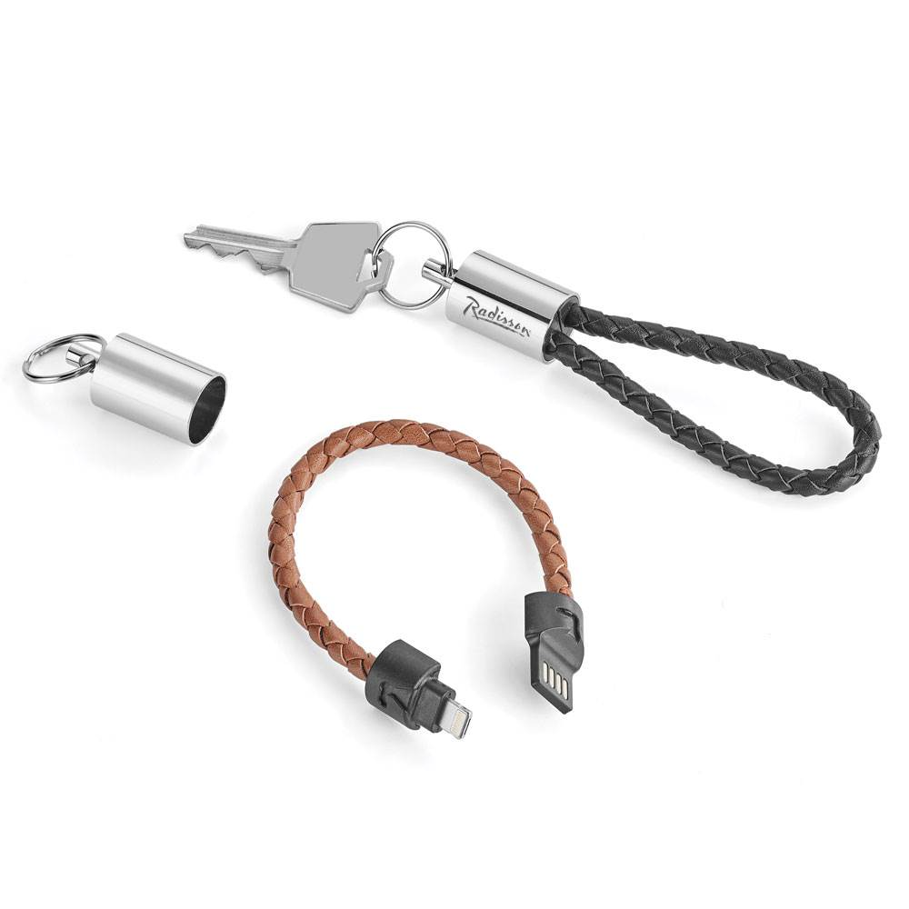 Nathan 2-in-1 Charging/Data Transfer Cable/Key Ring - Personalization Available