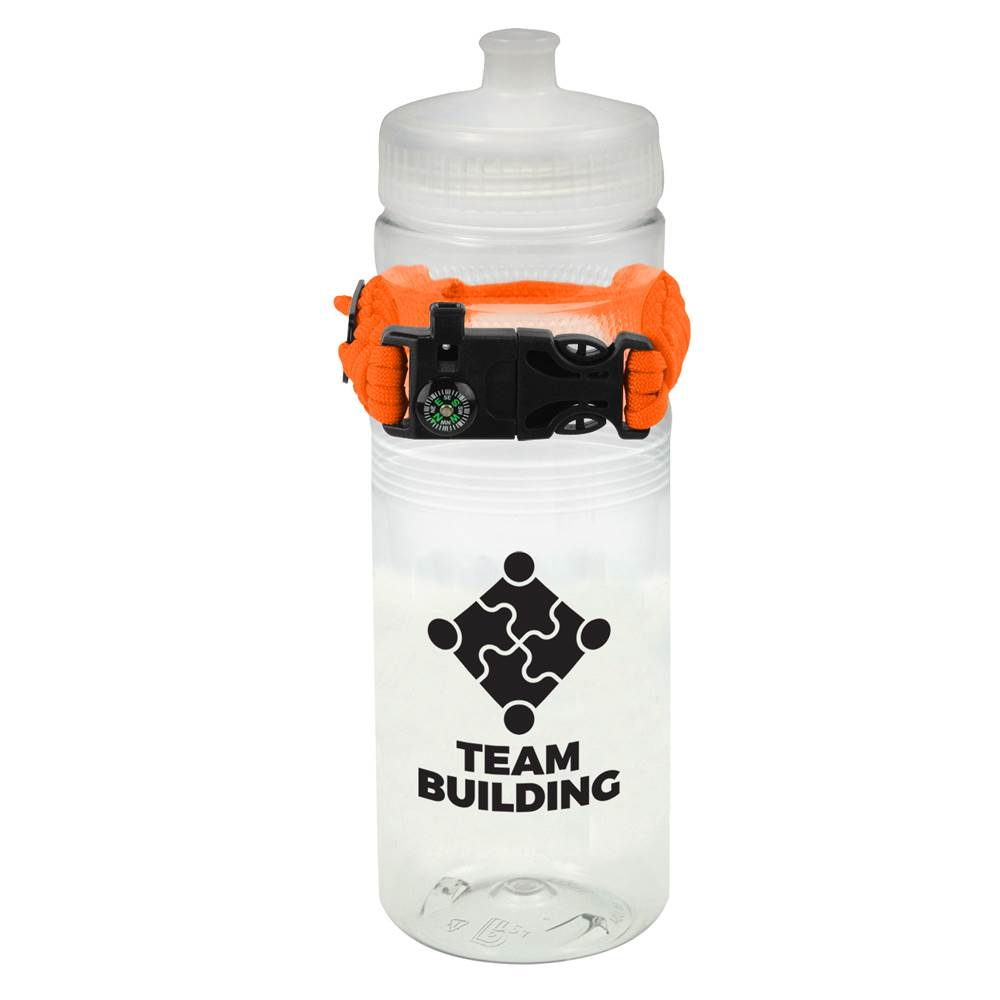 Cougar Mountain Bottle 24-Oz. and Paracord Bracelet - Personalization Available