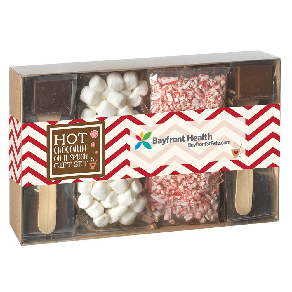Hot Chocolate On A Spoon Gift Set - Full-Color Personalization Available