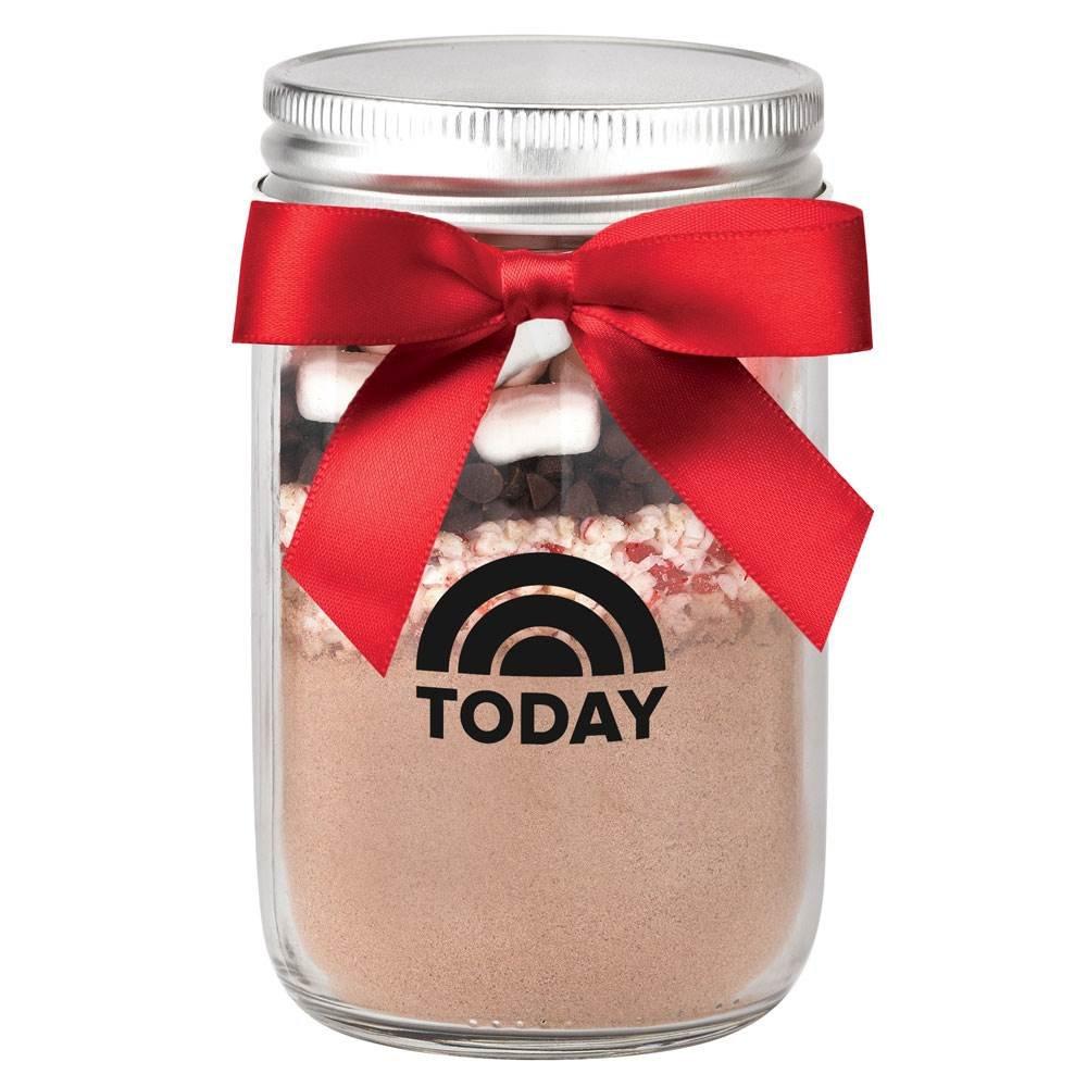 Hot Chocolate Kit in Mason Jar 12-Oz. - Personalization Available