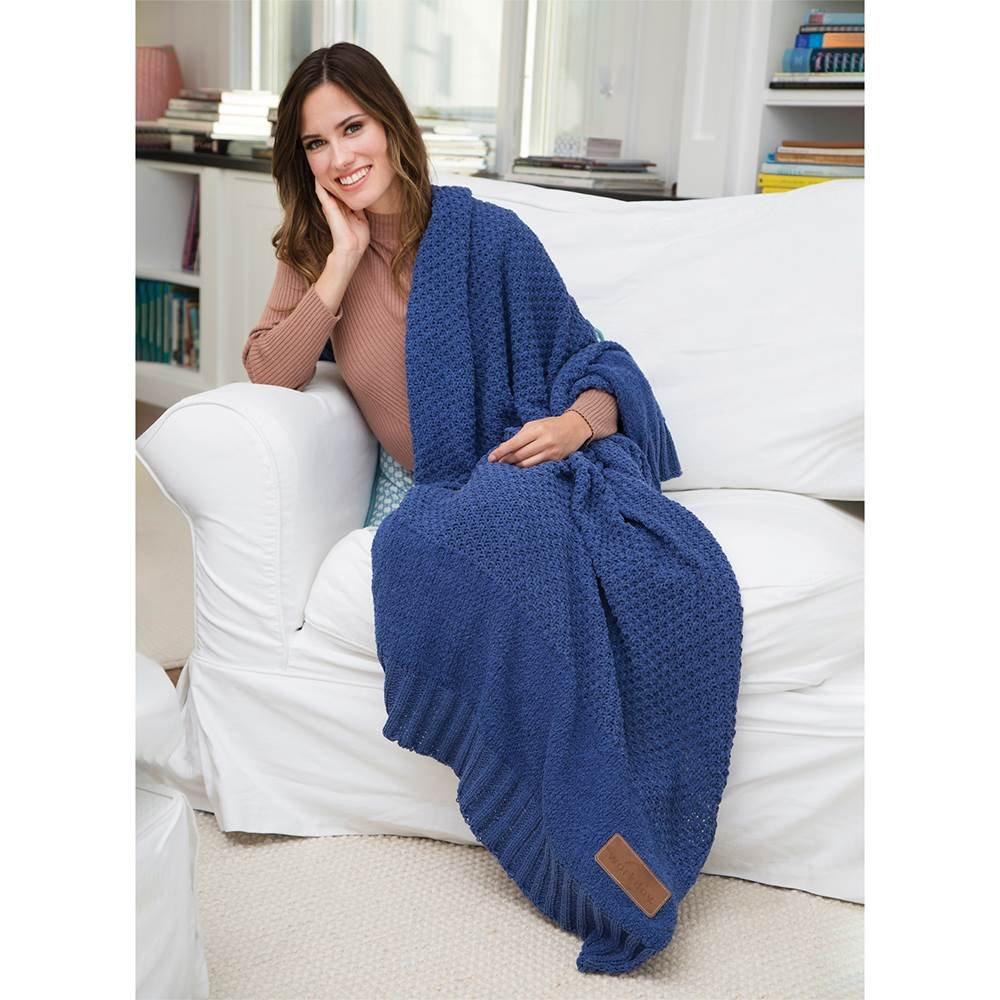 Newport Crochet Knit Blanket - Personalization Available