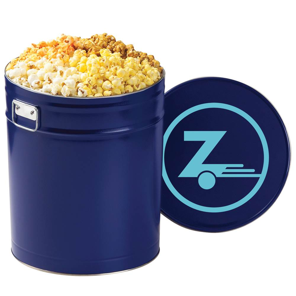 4 Way Popcorn Tin - 6.5 Gallon - Personalization Available