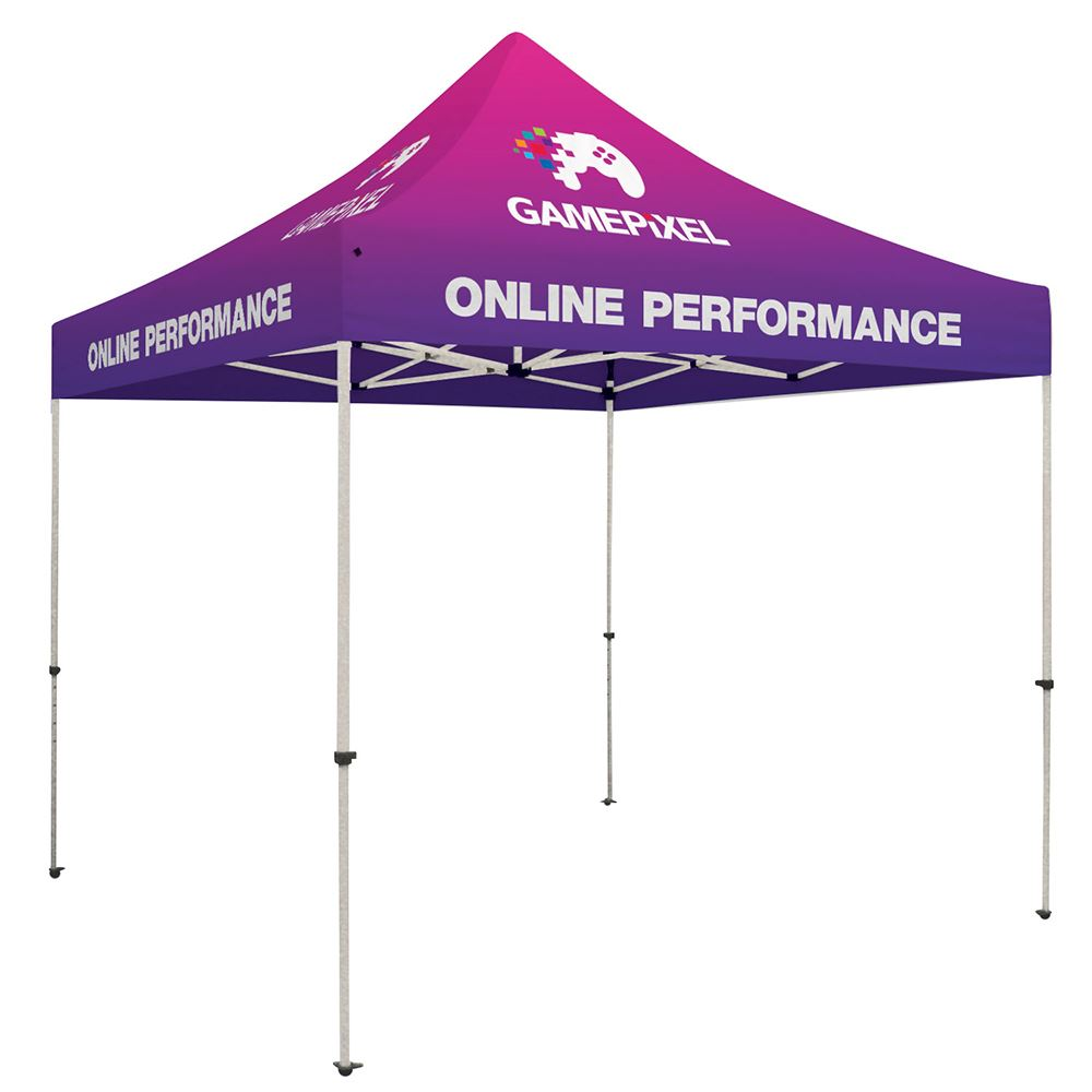 Standard 10' Tent Kit - Full-Bleed Dye Sublimation Personalization Available