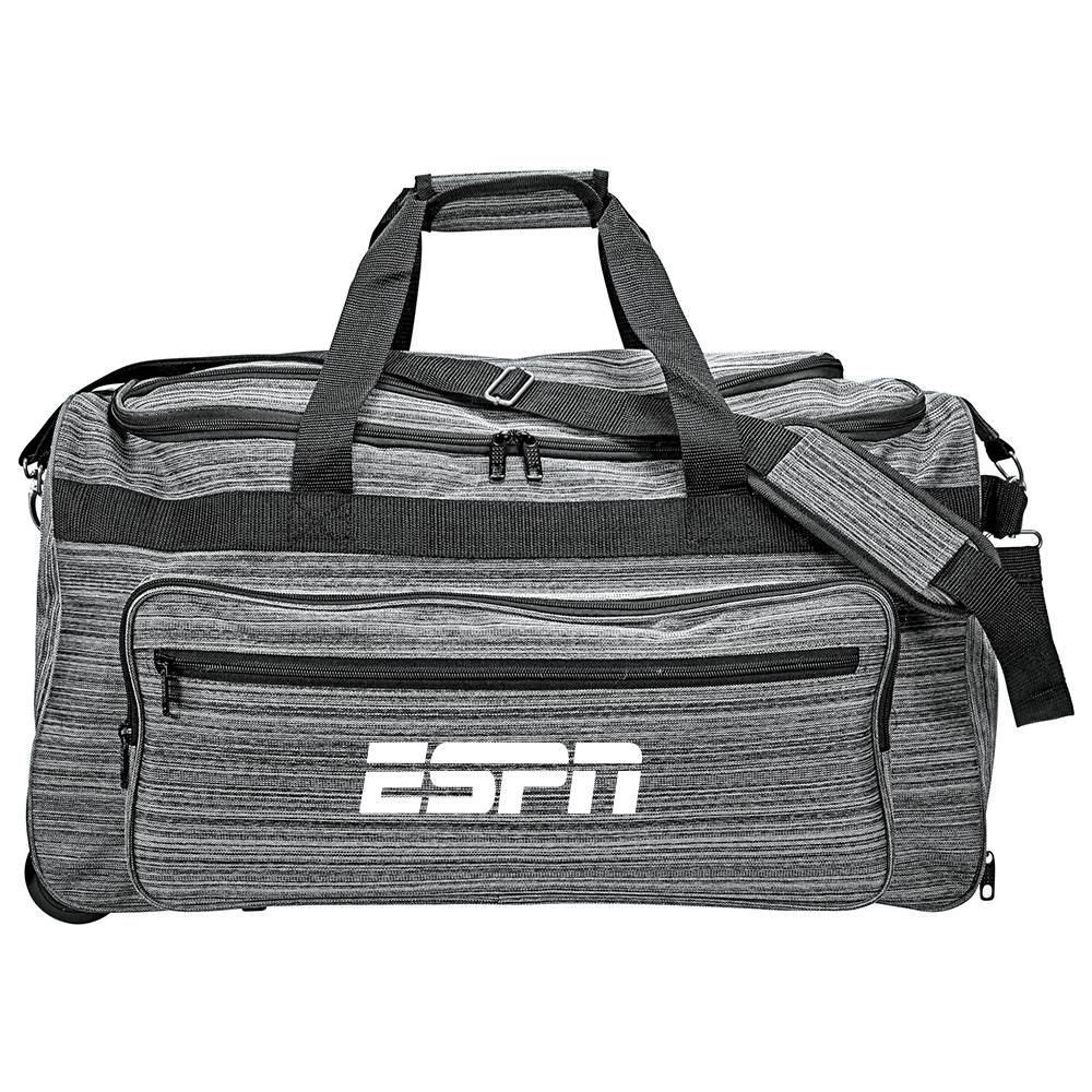Graphite Rolling Duffel - Personalization Available