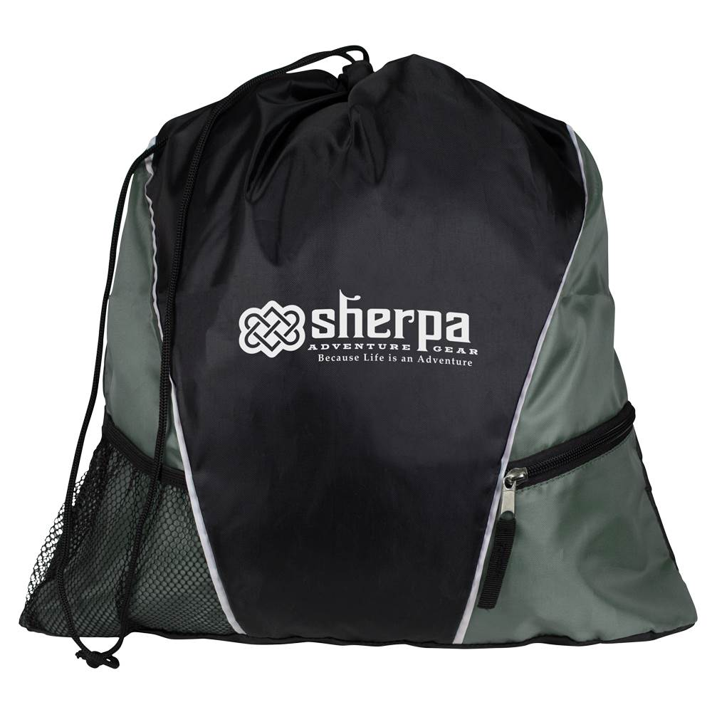 Sherpa Drawstring Backpack - Personalization Available