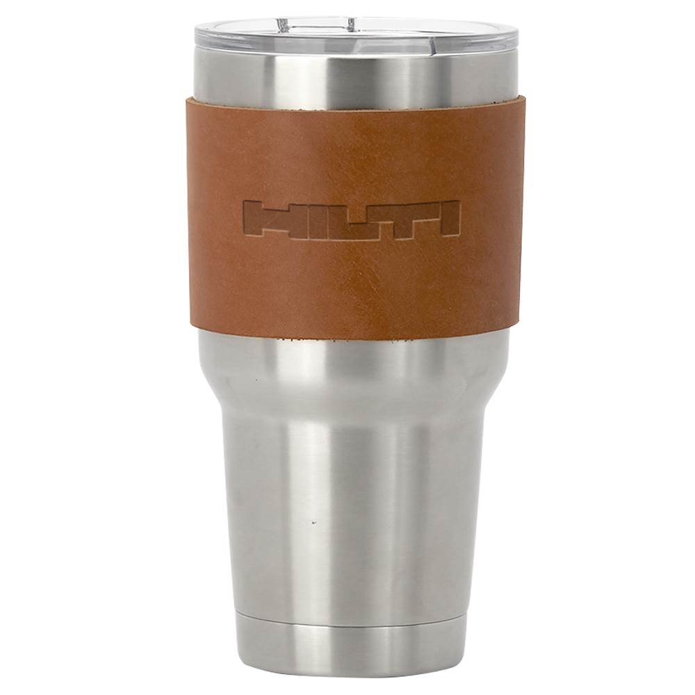 Huntsman Leather Tumbler Sleeve - Debossed Personalization Available