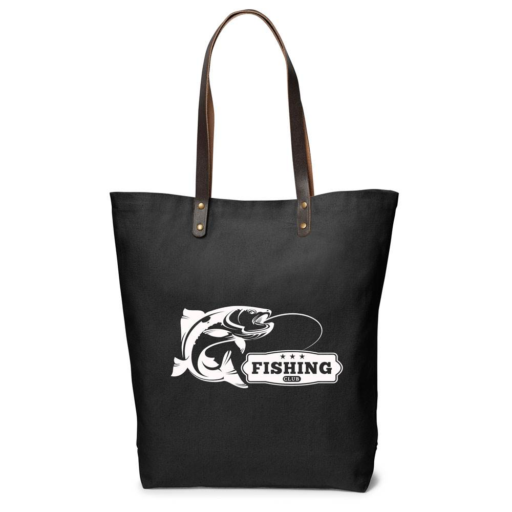 Urban Cotton Tote With Leather Handles - Personalization Available