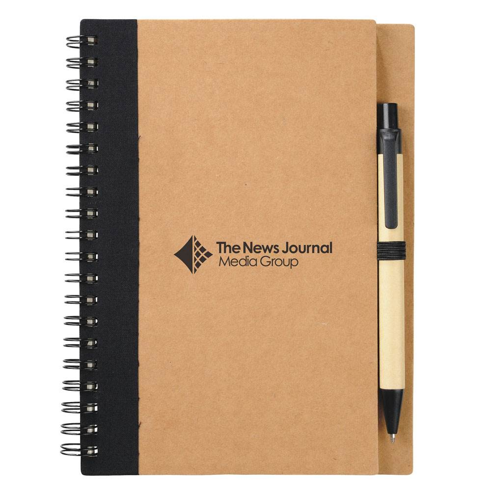 Recycled Spiral Notebook With Pen