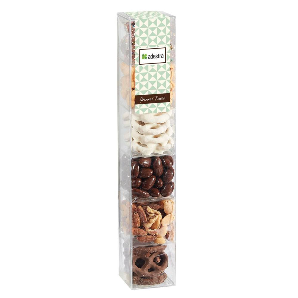 6-Way Gourmet Treat Tower - Personalization Available