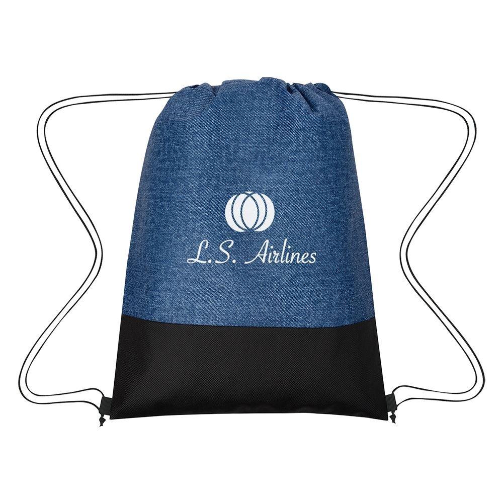 Denim Delight Non-Woven Drawstring Bag - Personalization Available