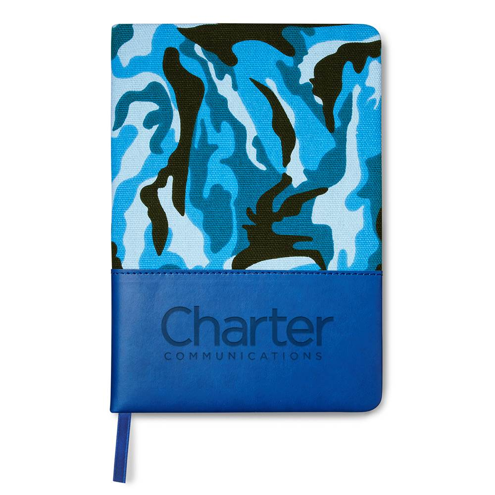 Hard Cover Camo Canvas Journal - Personalization Available