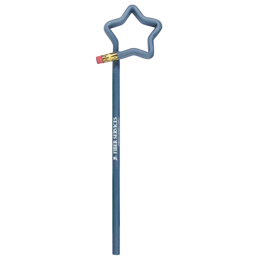 Denim Star Shaped Pencil - Personalization Available
