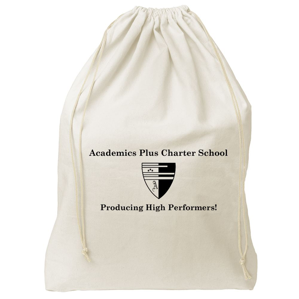 Continued Bubbles Drawstring Bag - Natural Canvas - Personalization Available
