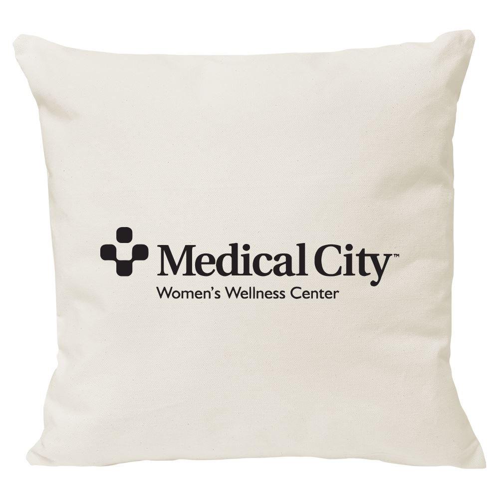 Continued Cuddlebug Throw Pillow - Medium - Natural Canvas - Personalization Available