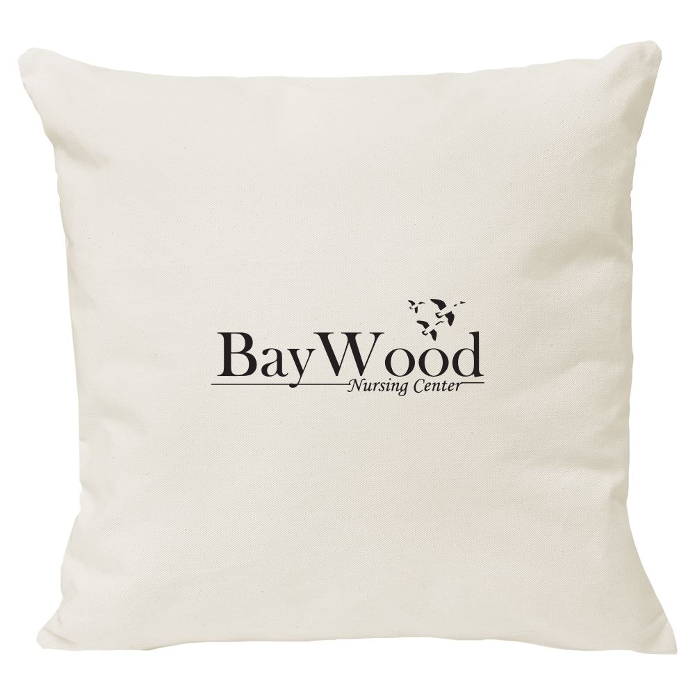 Continued Cuddlebug Throw Pillow - Large - Natural Canvas - Personalization Available
