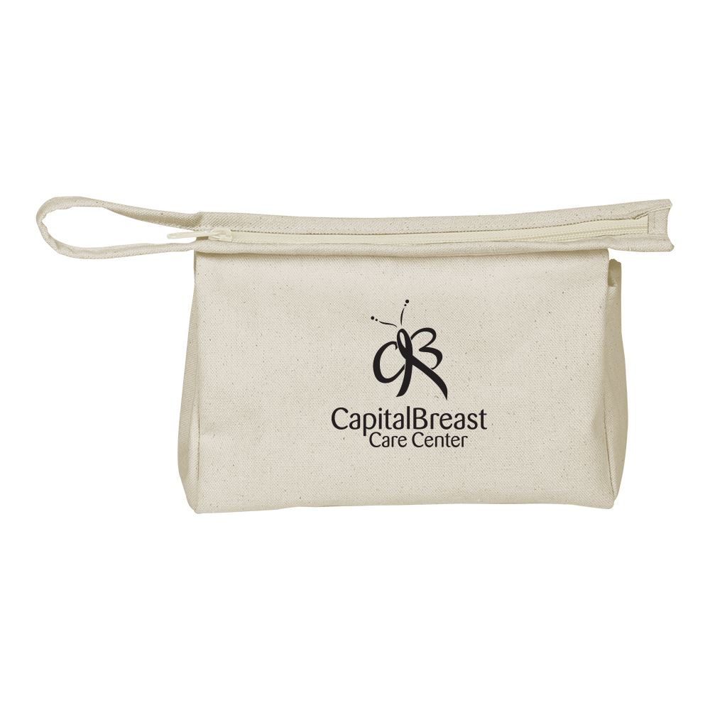 Continued Jetsetter Medium Travel Pouch - Natural Canvas - Personalization Available