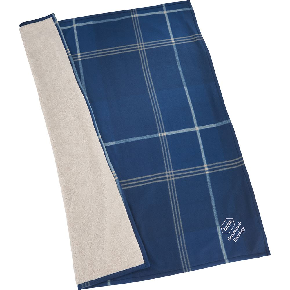 Plaid Fleece Sherpa Blanket - Personalization Available