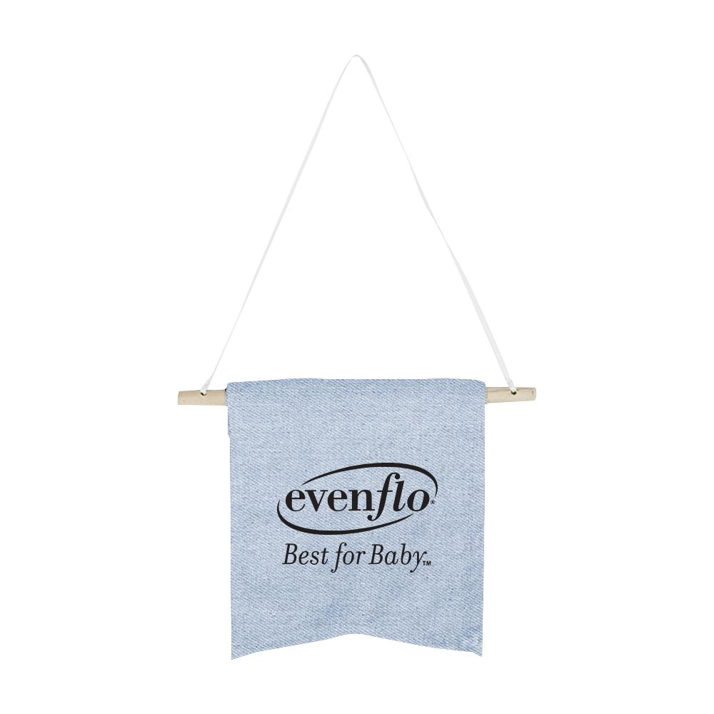Continued Wallflower Pennant - Small - Denim Canvas - Personalization Available