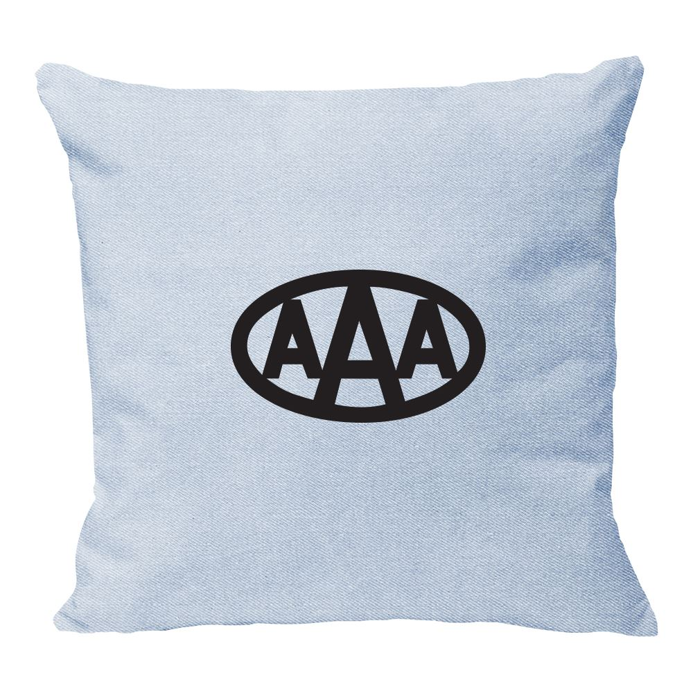 Continued Throw Pillow - Denim Canvas - Personalization Available