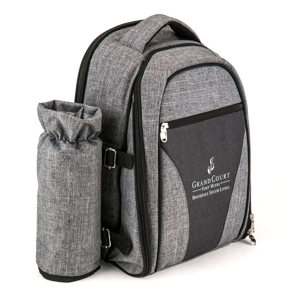 Wine Picnic Backpack For Four - Personalization Available