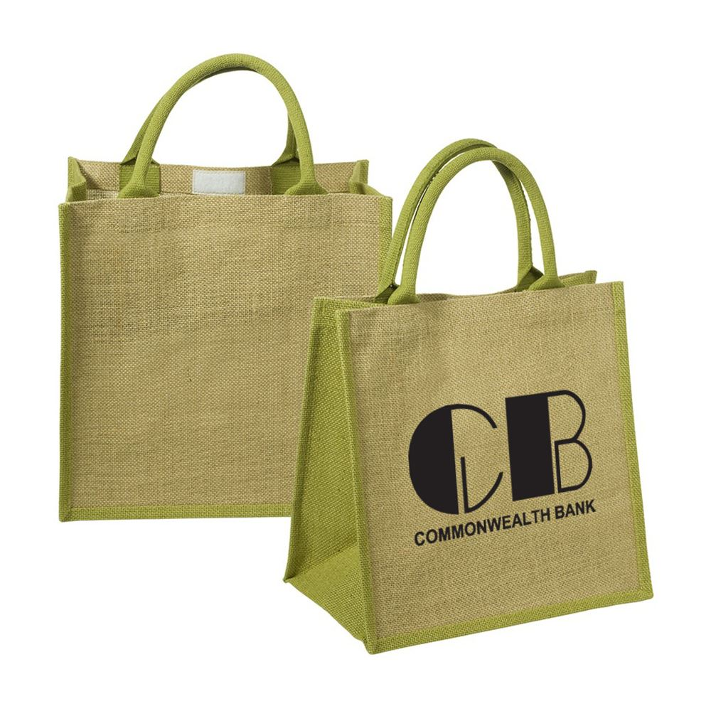 Eco-Friendly Junior Jute Tote - Personalization Available