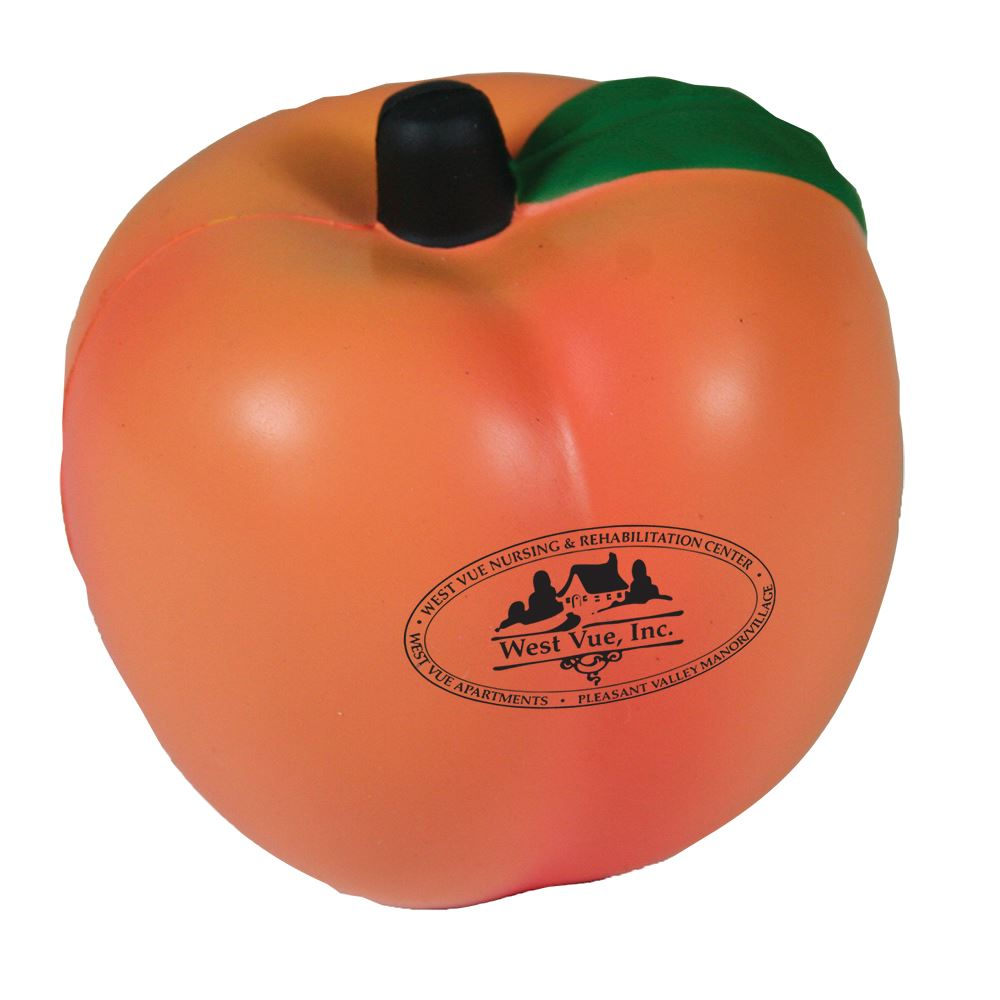 Peach Stress Reliever - Personalization Available