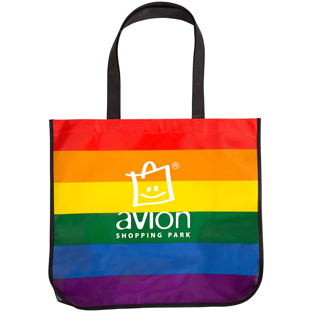 Rainbow Laminated Tote Bag - Large - Personalization Available