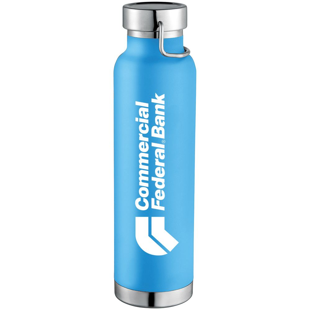 Thor Copper Vacuum Insulated Water Bottle 20 oz - Personalization Available