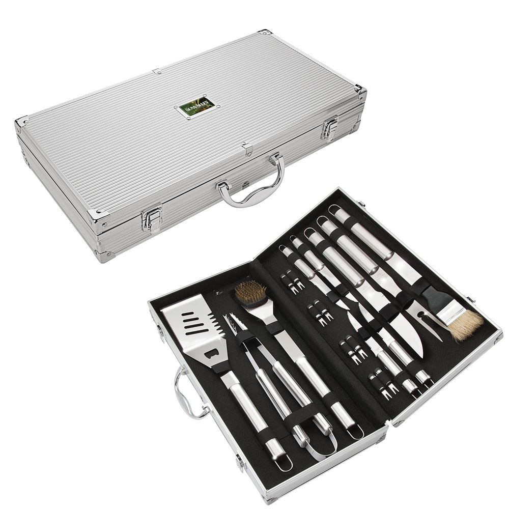Central Park 18-Piece Steel BBQ Set - Personalization Available