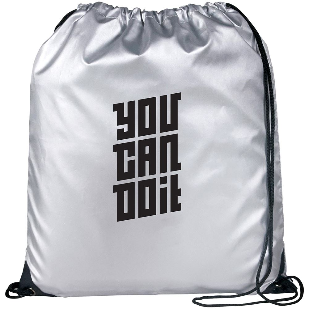 Oriole Reflective Drawstring Bag - Personalization Available
