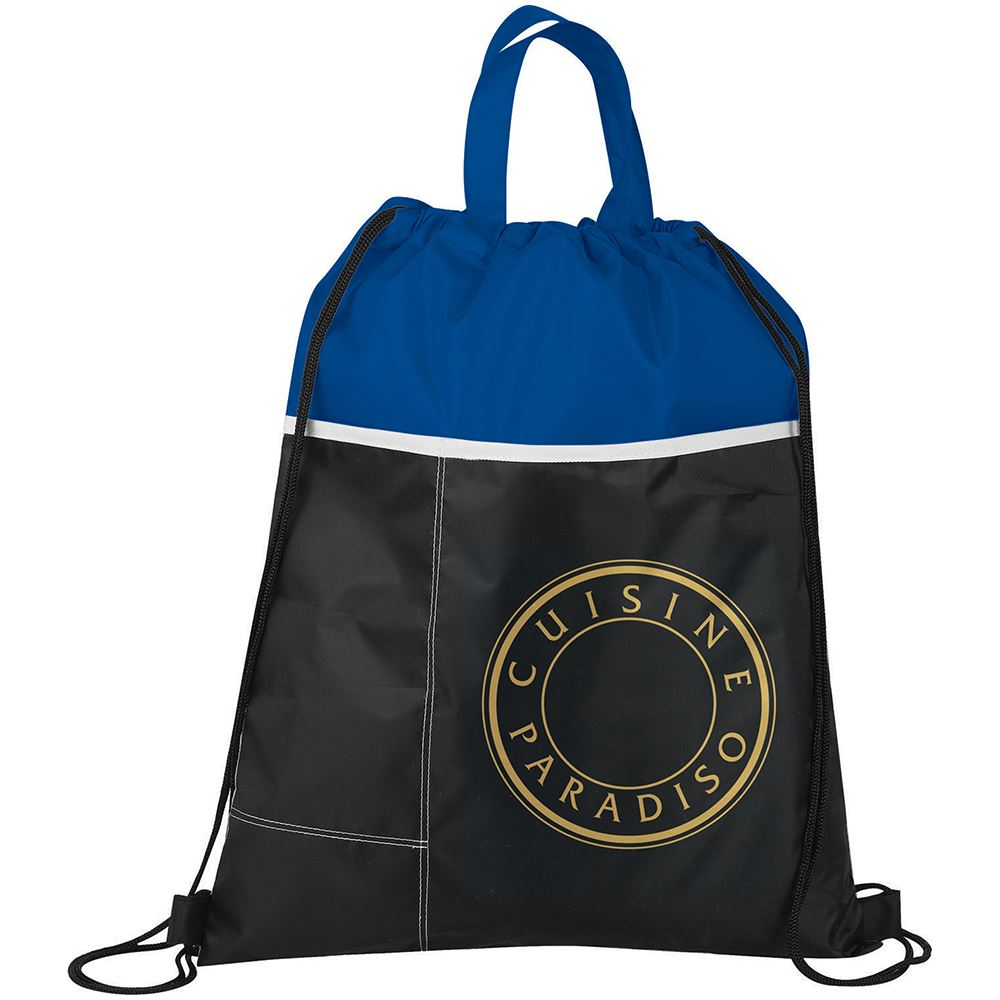 Two-Toned Drawstring Bag - Personalization Available