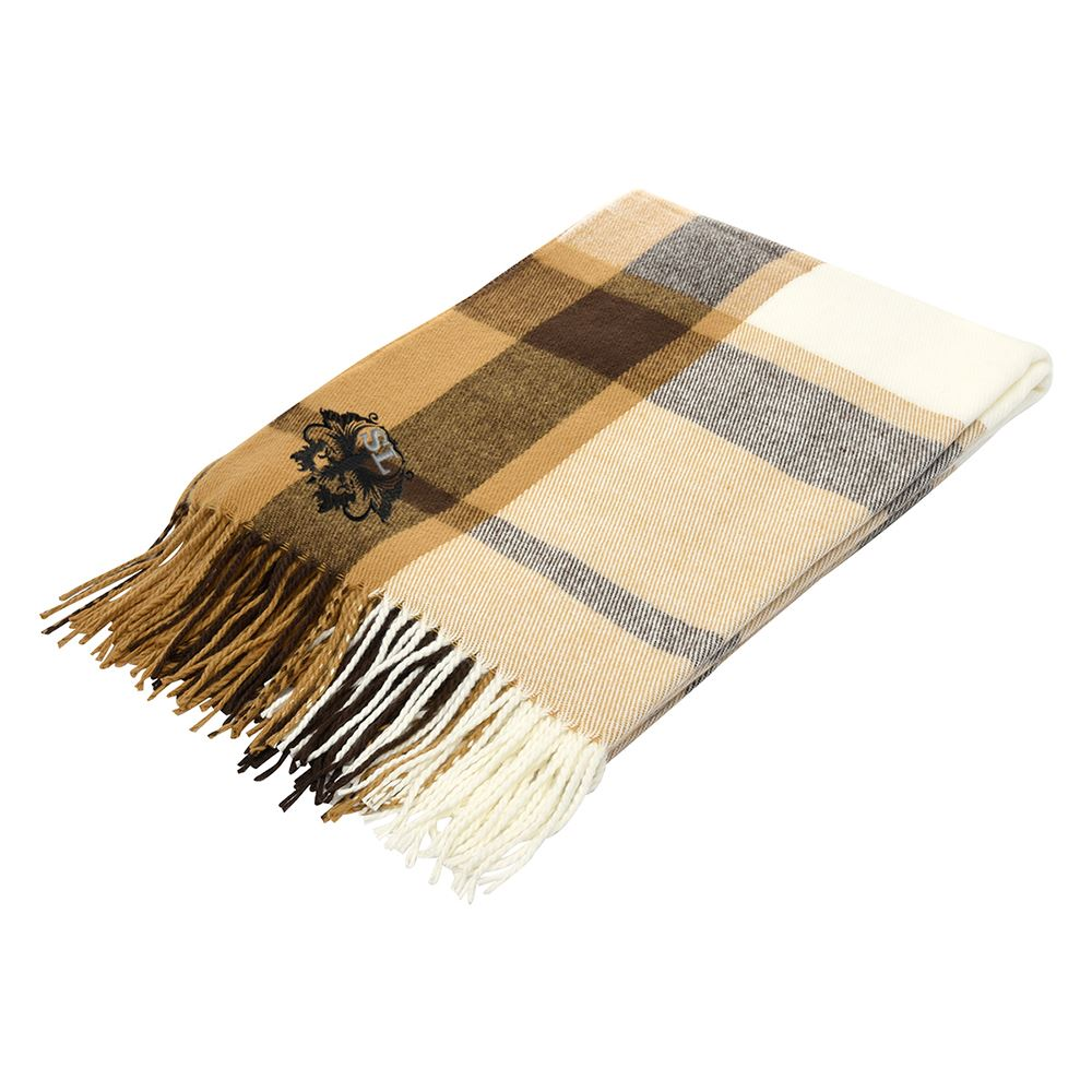 Manchester Fringed Throw Blanket - Personalization Available