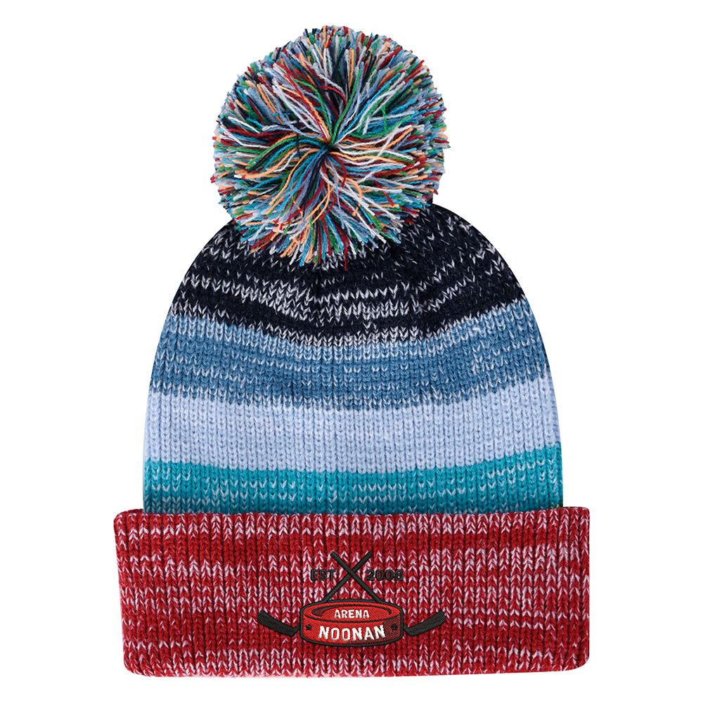 Aura Pom Beanie With Cuff - Personalization Available