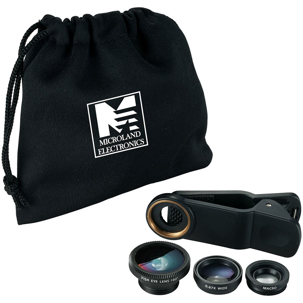 3-in-1 Clip-on Phone Lens Set - Personalization Available